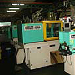 Injection moulding machine.