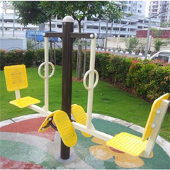 Fitness Seat & Backrest on HDPE