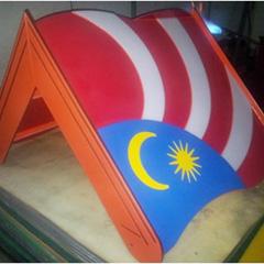 OEM HDPE Malaysia Flag Roof Design